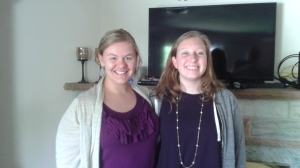 Left to right: Me, Rachel. It was so great to get to see her and the rest of the family!